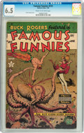 Golden Age (1938-1955):Science Fiction, Famous Funnies #215 (Eastern Color, 1955) CGC FN+ 6.5 Cream tooff-white pages....
