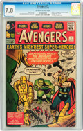 Silver Age (1956-1969):Superhero, The Avengers #1 (Marvel, 1963) CGC FN/VF 7.0 Off-white to whitepages....