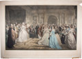 Books:Prints & Leaves, D. Huntington. Lady Washington's Reception. A charminghand-colored engraving of a reception hosted by George and Ma...