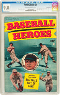 Golden Age (1938-1955):Non-Fiction, Baseball Heroes #nn Crowley Copy pedigree (Fawcett, 1952) CGC VF/NM9.0 Cream to off-white pages....