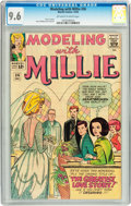 Silver Age (1956-1969):Romance, Modeling with Millie #36 (Marvel, 1964) CGC NM+ 9.6 Off-white towhite pages....