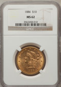 Liberty Eagles: , 1886 $10 MS62 NGC. NGC Census: (103/35). PCGS Population (93/35).Mintage: 236,160. Numismedia Wsl. Price for problem free ...