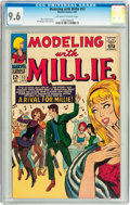 Silver Age (1956-1969):Romance, Modeling with Millie #53 (Marvel, 1967) CGC NM+ 9.6 Off-white to white pages....