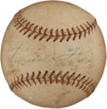 Autographs:Baseballs, 1957 Jimmie Foxx Single Signed Baseball....