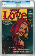 Golden Age (1938-1955):Romance, Young Love #7 (Prize, 1950) CGC NM 9.4 Off-white pages....