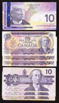 Canadian Currency: , A Group of Eight Canadian $10's. ... (Total: 8 notes)