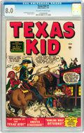 Golden Age (1938-1955):Western, Texas Kid #1 (Atlas, 1951) CGC VF 8.0 Off-white to white pages....