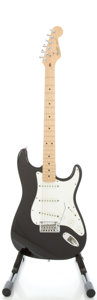 Musical Instruments:Electric Guitars, Circa 1988 Fender Stratocaster USA Black Solid Body ElectricGuitar, #E820214....