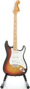 Musical Instruments:Electric Guitars, 1976 Fender Stratocaster USA Sunburst Solid Body Electric Guitar, #717284....