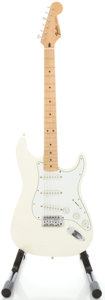 Musical Instruments:Electric Guitars, 1995 Fender Stratocaster MIM White Solid Body Electric Guitar,#MN596969....