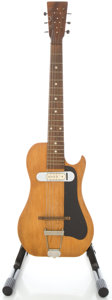 Musical Instruments:Electric Guitars, 1950s Vintage Homemade-Parts Natural Semi-Hollow Body ElectricGuitar....