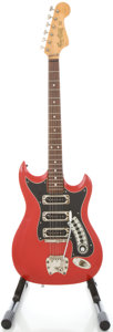 Musical Instruments:Electric Guitars, 1960s Hagstrom III Red Solid Body Electric Guitar, #608607....