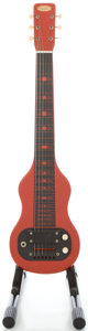 Musical Instruments:Lap Steel Guitars, Late 1950's Supro Red Lap Steel Guitar, Serial #G32408....