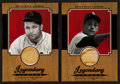 "Baseball Cards:Singles (1970-Now), 2001 Upper Deck ""Legendary Lumber"" Jimmie Foxx & Luis AparicioGame Used Bat Swatch Card Pair (2). ..."