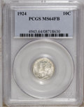 Mercury Dimes: , 1924 10C MS64 Full Bands PCGS. PCGS Population (169/176). NGCCensus: (80/130). Mintage: 24,010,000. Numismedia Wsl. Price:...