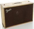 Musical Instruments:Amplifiers, PA, & Effects, Circa 1962 Fender Showman Cabinet White ...