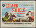 "Movie Posters:Adventure, The Black Shield of Falworth (Universal International, 1954). TitleLobby Card (11"" X 14""). Adventure.. ..."