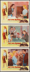 """Movie Posters:Exploitation, Hot Rod Rumble (Allied Artists, 1957). Lobby Cards (3) (11"""" X 14"""").Exploitation.. ... (Total: 3 Items)"""