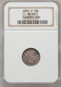Barber Dimes: , 1906-O 10C MS65 NGC. NGC Census: (17/19). PCGS Population (35/24).Mintage: 2,610,000. Numismedia Wsl. Price for problem fr...