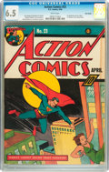 Golden Age (1938-1955):Superhero, Action Comics #23 Billy Wright pedigree (DC, 1940) CGC FN+ 6.5 White pages....