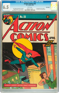 Action Comics #23 Billy Wright pedigree (DC, 1940) CGC FN+ 6.5 White pages