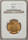 Indian Eagles: , 1926 $10 MS61 NGC. NGC Census: (3958/28794). PCGS Population(2701/24427). Mintage: 1,014,000. Numismedia Wsl. Price for pr...