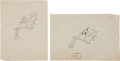 animation art:Production Drawing, Saludos Amigos Courvoisier Production Drawing Original Art(Disney, 1943).... (Total: 2 Items)