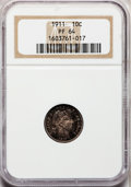 Proof Barber Dimes: , 1911 10C PR64 NGC. NGC Census: (67/99). PCGS Population (51/60).Mintage: 543. Numismedia Wsl. Price for problem free NGC/P...