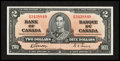Canadian Currency: , BC-22b $2 1937. ...