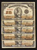 Canadian Currency: , A Quintet of Series 1923 Canadian Fractional Notes.. ... (Total: 5notes)
