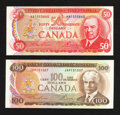 Canadian Currency: , BC-51a $50 1975. BC-52a $100 1975. ... (Total: 2 notes)