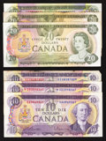 Canadian Currency: , A Half Dozen $10 and $20 Canadian Notes.. ... (Total: 6 notes)