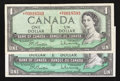 Canadian Currency: , A Pair of $1 1954 Replacement Notes.. ... (Total: 2 notes)