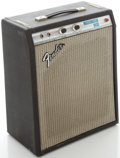 Musical Instruments:Amplifiers, PA, & Effects, Circa late 1970's Fender MusicMaster Bass Silverface Guitar Amplifier, Serial #A07114....