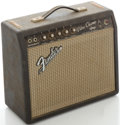 Musical Instruments:Amplifiers, PA, & Effects, 1966 Fender Vibro Champ Blackface Guitar Amplifier, Serial#A11963....