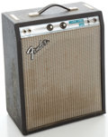 Musical Instruments:Amplifiers, PA, & Effects, Late 1970's Fender Music Master Bass Silverface Guitar Amplifier, Serial #A09702....
