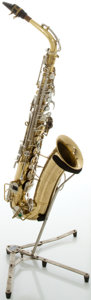 Musical Instruments:Horns & Wind Instruments, Circa 1970's Buescher Aristocrat Brass Alto Saxophone, Serial#552592....