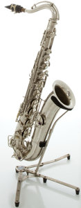 Musical Instruments:Horns & Wind Instruments, Circa 1914 Conn Pan American Silver Alto Saxophone, Serial #P28802....