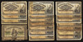 Canadian Currency: , A Large Lot of Early Canadian Shinplasters.. ... (Total: 19 notes)