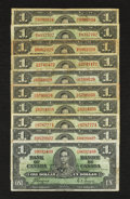 Canadian Currency: , King George VI $1 Grouping. ... (Total: 10 notes)