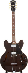 Musical Instruments:Electric Guitars, 1969 Gibson ES-340TDW Walnut Semi-Hollow Electric Guitar, Serial #811027....