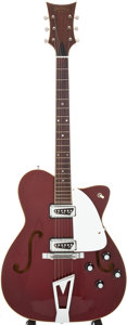 Musical Instruments:Electric Guitars, 1966 Martin GT-70 Burgundy Semi-Hollow Electric Guitar, Serial # 211721. ...