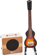 Musical Instruments:Lap Steel Guitars, 1939 Gibson EH-100 Lap Steel Guitar and Amplifier Set, GuitarSerial # EGE-5169, Amp Serial # 10475.... (Total: 2 Items)