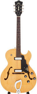 Musical Instruments:Electric Guitars, 1967 Guild T-100D Blonde Semi-Hollow Electric Guitar, Serial #EE2743....