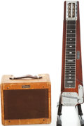 Musical Instruments:Lap Steel Guitars, 1950s/1960 Fender Deluxe 8 Lap Steel and Champ Amplifier Set, Amp Serial # C04511.... (Total: 2 Items)