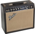 Musical Instruments:Amplifiers, PA, & Effects, 1965 Fender Vibro Champ Black Guitar Amplifier, Serial # A07230....