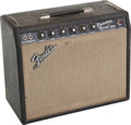 Musical Instruments:Amplifiers, PA, & Effects, 1967 Fender Princeton Reverb Black Guitar Amplifier, Serial # A15421....