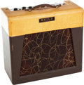 Musical Instruments:Amplifiers, PA, & Effects, Circa 1958 Guild 66-J Two-Tone Guitar Amplifier, Serial # 6243....