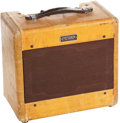 Musical Instruments:Amplifiers, PA, & Effects, 1955 Fender Princeton Tweed Guitar Amplifier, Serial # 4469....