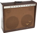 Musical Instruments:Amplifiers, PA, & Effects, 1960 Magnatone Custom 280 Brown Guitar Amplifier....
